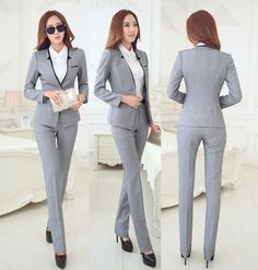 Cheap jacket casual, Buy Quality suit gold directly from China suit hanger Suppliers: 			100% Brand New  				Fashion Design  				Office Lady Formal Women Suit (Blazer + Pants)  &nbs