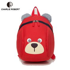 3f59863b6d5c Baby Bear Children Backpack For 1-3 Years Kindergarden Boys And Girls Bag  Animal Cartoon Charactors Toddler Anti-lost Backpack