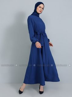 The perfect addition to any Muslimah outfit, shop Tavin's stylish Muslim fashion Indigo - Crew neck - Unlined - Dress. Find more Dress at Modanisa! Muslim Fashion, Hijab Fashion, Indigo Dress, Dress Outfits, Dresses, Mannequin, Awards, Crew Neck, High Neck Dress