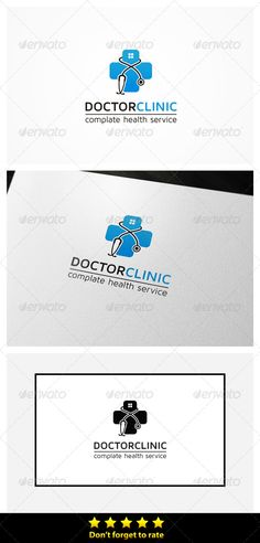 Doctor Clinic   Logo Design Template Vector #logotype Download It Here:  Http:/