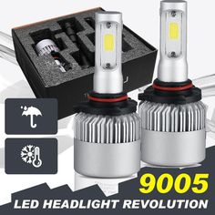 2x 9005 HB3 200W 20000LM LED Headlight Kit Car High Beam Bulbs 6500K Power
