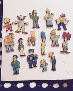 The Simpsons Enamel Pin Maggie Pin And Patches, Iron On Patches, Cool Pins, Lost & Found, The Simpsons, Pin Badges, Full Set, Scooby Doo, Enamel