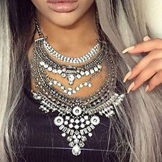 Glamorous Over The Top Statement Necklace #necklace #fashion #ootd - 27,90 � @happinessboutique.com