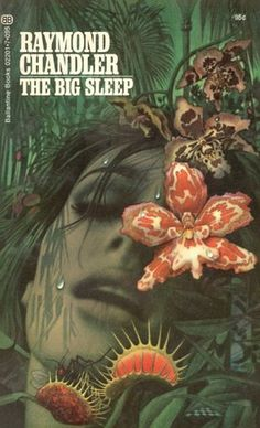 "transistoradio: ""Raymond Chandler, The Big Sleep (NY: Ballantine Books, with cover art by Tom Adams. Via Killer Covers. Horror Fiction, Crime Fiction, Pulp Fiction, Book Cover Art, Book Art, Book Covers, Tom Adams, The Big Sleep, Raymond Chandler"