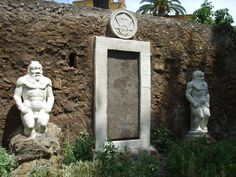 """An alchemist's """"magic door"""" stands in the middle of a Roman park"""