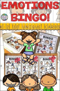 Emotions Bingo Is Fun Way To Teach Students The Vocabulary To Name Various Feelings And How To Recognize Them By Facial Expressions 30 Unique Game Cards Included, And Decor For Your Ipad Box Kindergarten Lesson Plans, Teaching Kindergarten, Student Learning, Fun Learning, Teaching Kids, Kindergarten Themes, Game Cards, Card Games, Bingo Games