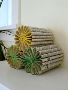 Book Flowers-Cute. But I couldn't bring myself to do this to a book!