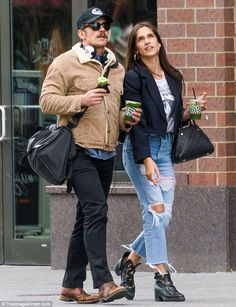 Out and about: James Franco seems inseparable from his beautiful girlfriend of just six mo. Beautiful Girlfriend, Skater Boys, Stylish Couple, Terry Richardson, James Franco, Mens Fashion, Fashion Outfits, Michael Fassbender, Dream Guy