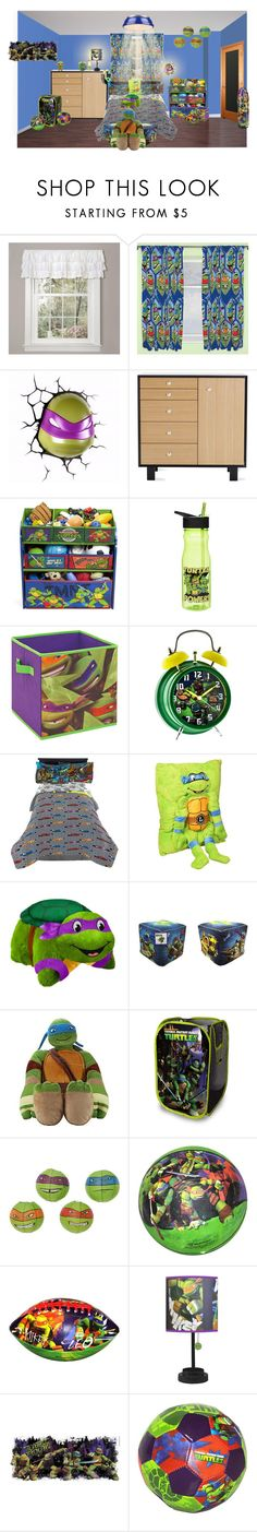 """ninja turtle"" by sterlingkitten on Polyvore featuring interior, interiors, interior design, home, home decor, interior decorating, Lush Décor, George Nelson, Nickelodeon and Hot Topic"