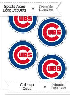 Small Chicago Cubs Logo Cut Outs from PrintableTreats.com