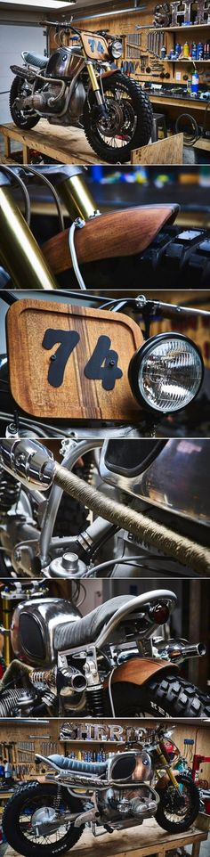 BMW R90 Scrambler Wood Style por Garage Sheriff Moto Scrambler, Moto Bike, Motorcycle Garage, Motorcycle Design, Bike Design, Bmw Cafe Racer, Cafe Racers, Bmw Motorcycles, Vintage Motorcycles