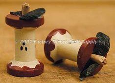 wooden spool craft | Wooden Apple Core Spool | Craft Ideas