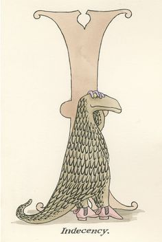 The Betrayed Confidence: Edward Gorey's Weird and Whimsical Vintage Illustrated Postcards | Brain Pickings