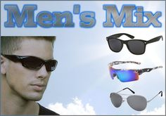 Our sales staff will be sure to include our hottest selling mens sunglasses in every dozen.  The styles included in this dozen will be our top of the line sunglasses.  Rest assured, YOU WILL receive 12 different pairs of mens sunglasses!  Please note that styles change frequently.