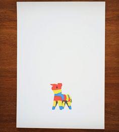 Donkey Piñata Print