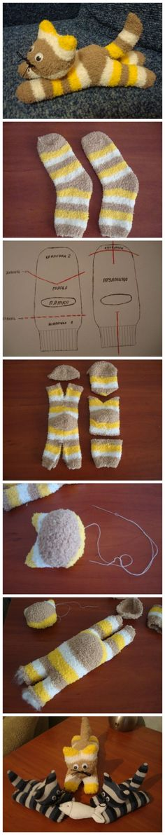 DIY New Cute Sock Kitten