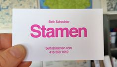 Beth's new business cards