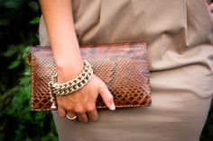 Brown Crocodile Clutch Manuela Yush Fashion Blog