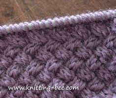 Diagonal Basketweave Cable Stitch pattern