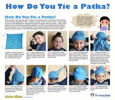 How do you tie a Patka