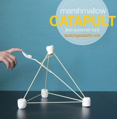 Marshmallow catapults in Entertainment, books and tales for babies and kids