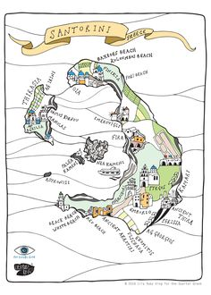 8 Best A Smart Map Of Santorini Images Geography Map