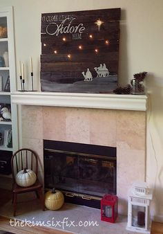 I have a lot of nice comments on my Christmas Mantle  this year, and I thought I would give you a quick tutorial on how I made the li...