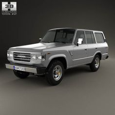 Toyota Land Cruiser (J60) US 1987 3d model from humster3d.com. Price: $75