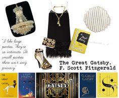 The Great Gatsby Bookshelf Styling, The Great Gatsby, Scott Fitzgerald, Hollywood Life, Novels, Scene, Classic, Fashion, Derby