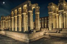 Luxor Temple captured by night Luxor Temple, Pisa, Egypt, Tower, Building, Travel, Night, Viajes, Computer Case