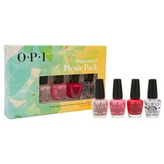 OPI Nail Polish Summer Picnic Pack 4pc Mini Gift Set Collection 1/8oz