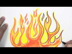 How to Draw Flames - Graffiti Fire Drawing Lesson