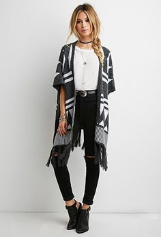 Geo-Patterned Dolman Cardigan | Forever 21 - 2000142363