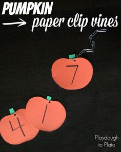 Clever way to teach kids numbers and work on fine motor skills! #preschool #education #Halloween (repinned by Super Simple Songs)