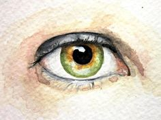 Custom Eye Portrait-Original Watercolor Painting