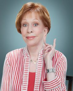 MAKER Carol Burnett in one of many hilarious portraits of comedians.