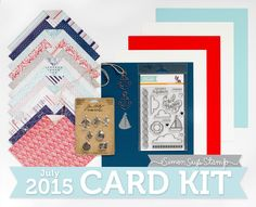 My Impressions: Simon Says Stamp July 2015 Card Kit - Lifesaver Card and GIVEAWAY!