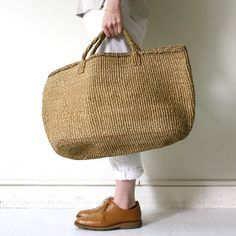 Other sisal basket bag L / Natural 01