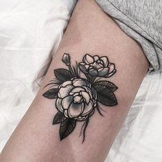 Sweet flower tattoo #SouTattooer