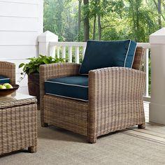 Crosley Bradenton Outdoor Wicker Arm Chair | from hayneedle.com