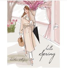 Hello Spring Rose Hill Designs © by Heather Stillufsen Spring Quotes, Hello Weekend, Hello Spring, Happy Spring, Spring Time, Women Lifestyle, Months In A Year, Sweet Girls, Fashion Sketches