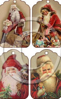 Apologise, but, vintage santa claus hang tags charming