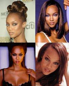 Supermodel Signatures: What Makes a Model Stand Out From the Crowd Tyra Banks Forehead, High Forehead, Modern Hairstyles, Black Girls Hairstyles, Best Beauty Tips, Beauty Hacks, Fiery Red Hair, Hair Icon, Making A Model