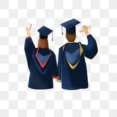 Hand Painted Illustration Graduation Graduation Season Student College Students Profession PNG Transparent Clipart Image and PSD File for Free Download Pendidikan kesehatan Gambar Pendidikan
