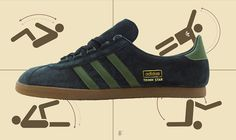 adidas Originals Trimm Star | Black, Green & Gum