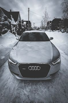 Audi in the snow visualechoes.co