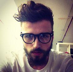 Charlie Winzar glasses black frame men