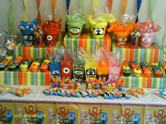 Yo Gabba Gabba Party Table #yogabbagabba #partytable