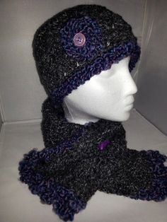 Beanie and mini scarf set by BySunshineDesign on Etsy, $20.88
