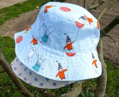 """Reversible bucket hat by Oliver + S. Free pattern. Makeover """"Just for fun"""""""